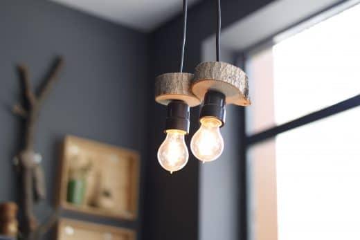 Holz, Glühlampen, Leuchtenkonstruktion