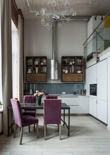Kuchen Im Industrial Look Metall Holz Und Beton