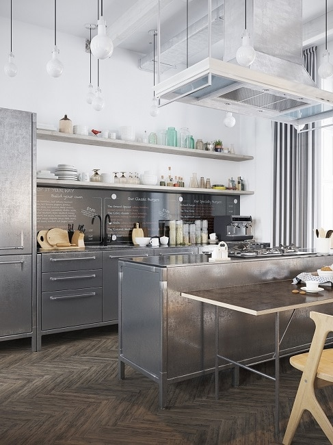industrial-kitchen-chrome-cabinets_Visualizer_Denis Krasikov ...