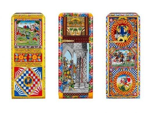 Nicht in Sachen Technik, aber im Design ordentlich aufgepeppt: Der SMEG-Klassiker Fab28 wartet mit schrillen Mustern auf. Die Küchenhersteller haben sich hierfür mit dem italienischen Designerduo Dolce & Gabbana zusammengetan. (Foto: SMEG)