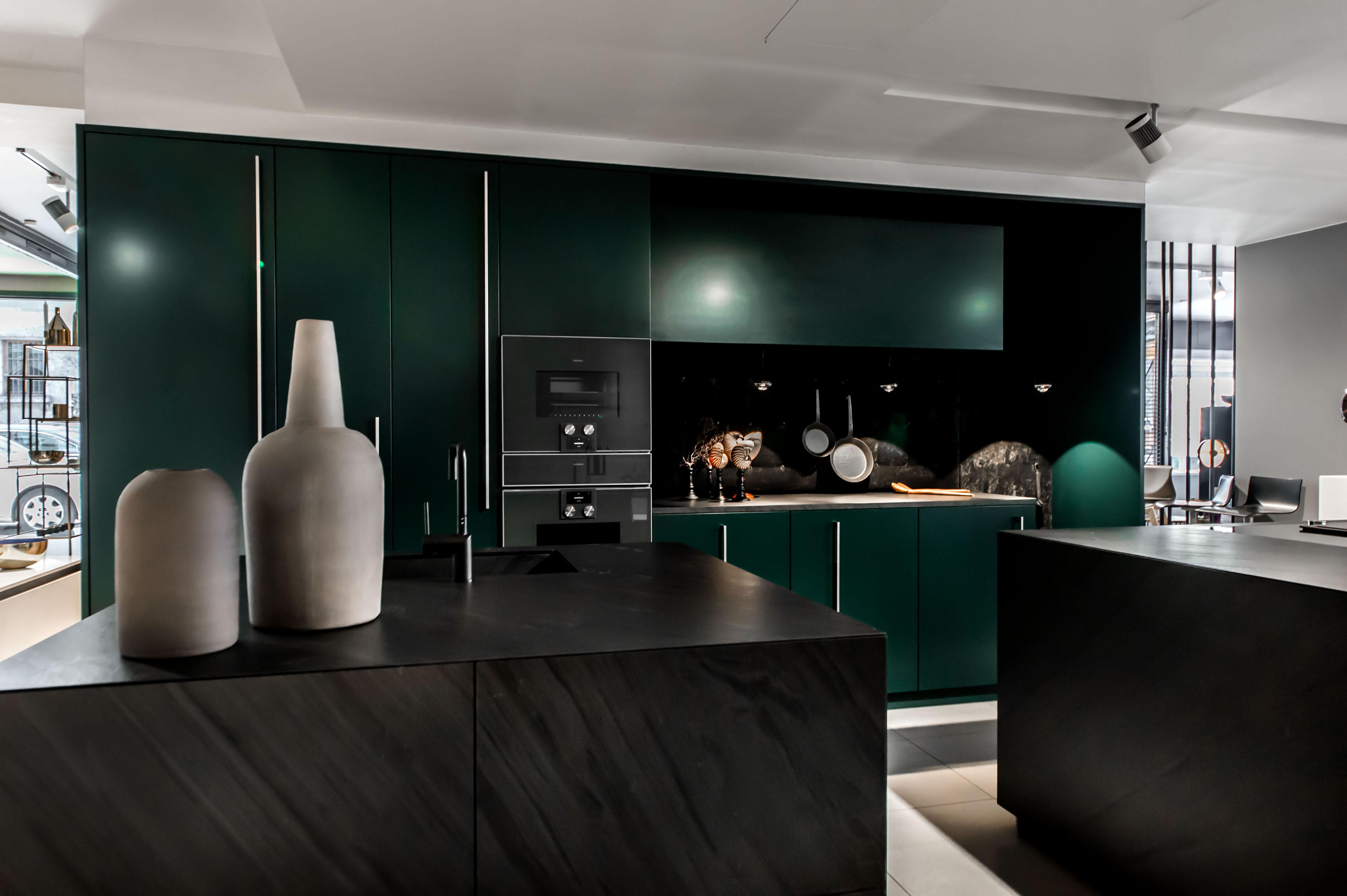 Groß Dunkelgrüne Küchenschränke Ideen - Küche Set Ideen ...