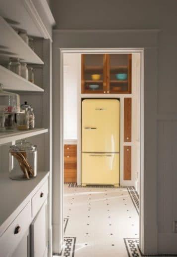 retro, gelb, SMEG, 50er Jahre, Retro-Kühlschrank