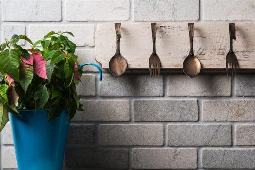 Küchenwand Backstein, Sandstein