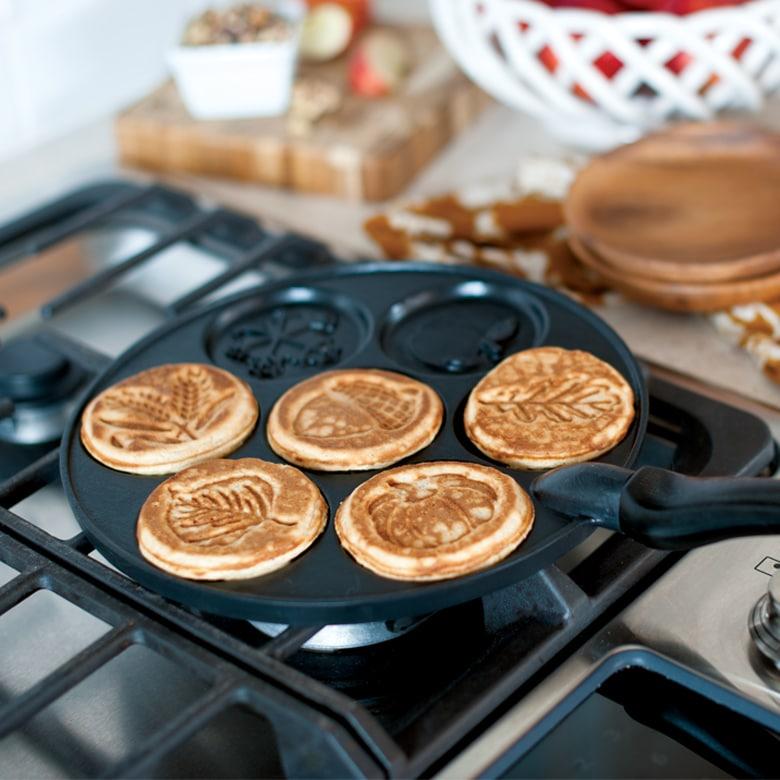 Mehrere Pancakes auf einmal lassen sich mit dem Modell von GIGANT backen - fluffig und weich. (Foto: Autumn Pancake)