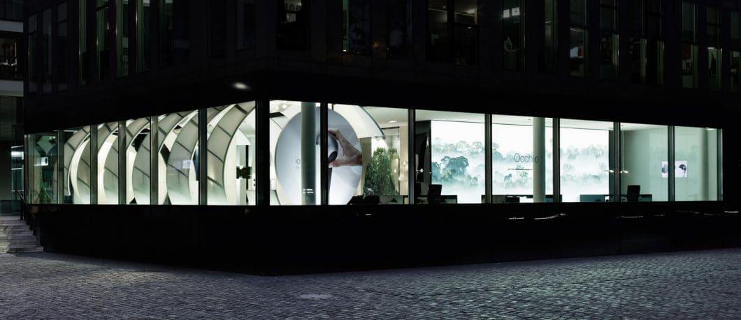 Occhio ist auf vielen Messen vertreten, hat aber auch luxuriöse eigene Stores in Europa, so z.B. in München und Köln, Antwerpen, Paris und Luxemburg. (Foto: Occhio)