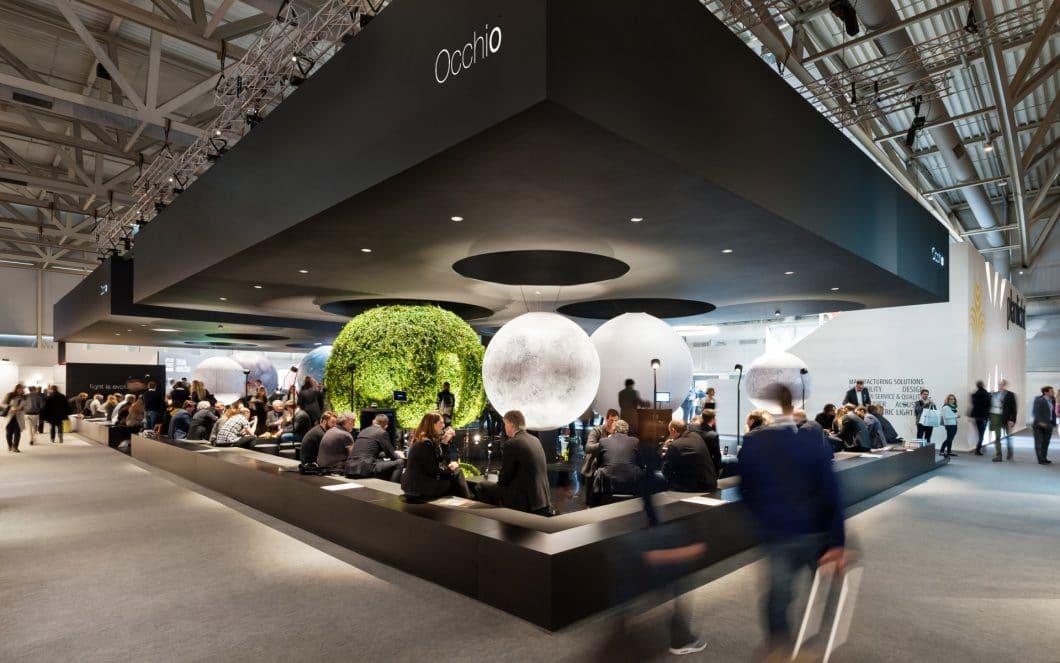 """Occhio auf der Lightbuilding Messe 2016. Das Münchner Unternehmen zählt mittlerweile zu den Top 5 der """"Luxury Innovators"""". (Foto: Occhio)"""
