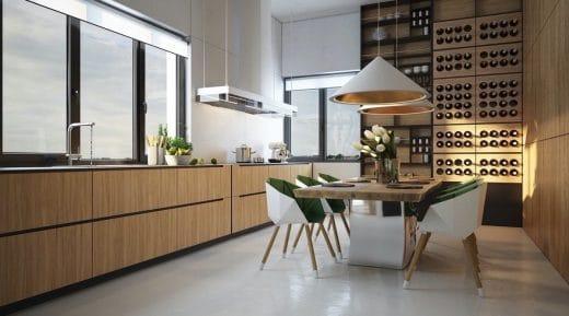Ein Echter Hingucker In Der Küche Und Zum Greifen Nah: Die Hölzerne Wein  Vorratswand