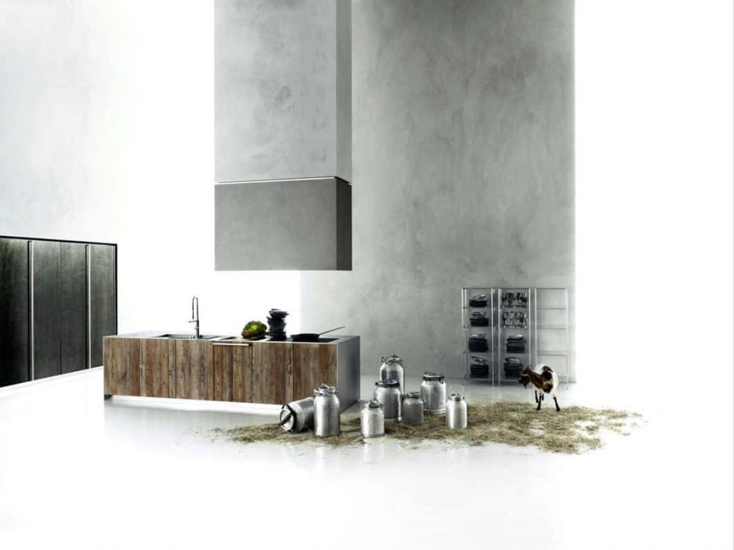 """Ein bekanntes Motiv und ein wahrer Hingucker: Boffis Küche """"hide"""" fügt sich so unauffällig und zeitgleich wunderschön in seine Umgebung ein, dass die Natur wirklich zum Greifen nahe ist. (Foto: Boffi, Hide; gesehen bei archiexpo)"""