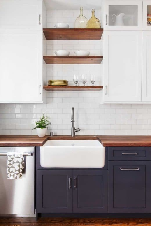 einfach mal blau machen in der k che. Black Bedroom Furniture Sets. Home Design Ideas