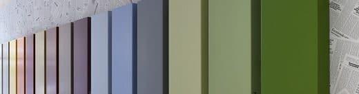 Corian glänzt nicht nur mit seiner porenfreien Oberfläche, sondern vor allem seiner Farbvielfalt: Der Werkstoff ist in über 100 Farben erhältlich. (Foto: Leo Torri; DuPont Corian)