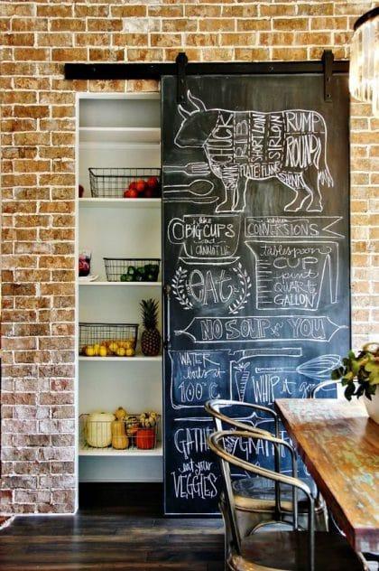 Eine Kreide- und Magnettafel in der Küche eignet sich nicht nur, um Kinder zu beschäftigen, sondern auch, um den Wochenendeinkauf nicht zu vergessen. (Foto: dyibastelideen.com)