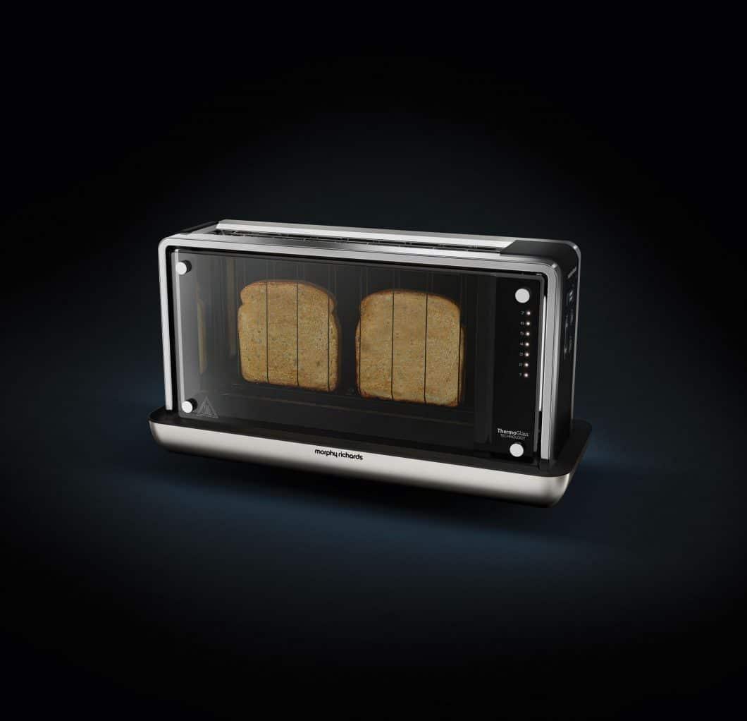 Fantastisch: Schauen Sie Ihrem Toaster beim Bräunen zu. In einer optisch ansprechenden Hülle, mit neuer Thermoglas-Funktion. (Foto: German Design Award)