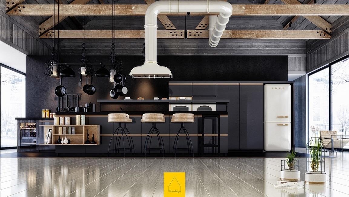 Smeg Kühlschrank Pastel : Schwarze küchen küchendesignmagazin lassen sie sich inspirieren