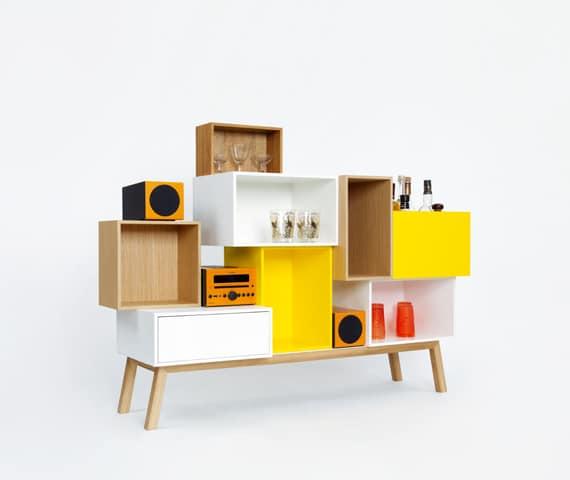 """""""Cubit"""" lockert einen eintönigen Raum fröhlich und designdurchdacht auf und setzt Ausstellerware gekonnt in Szene. (Foto: mymito)"""