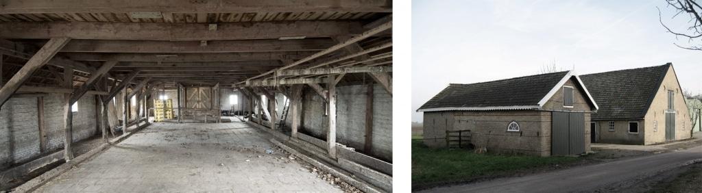 Vorher: Das alte Gehöft mit 2 Scheunen im holländisch-friesischen Pingjum war verlassen und unbewohnbar. (Foto: ina-matt.com)