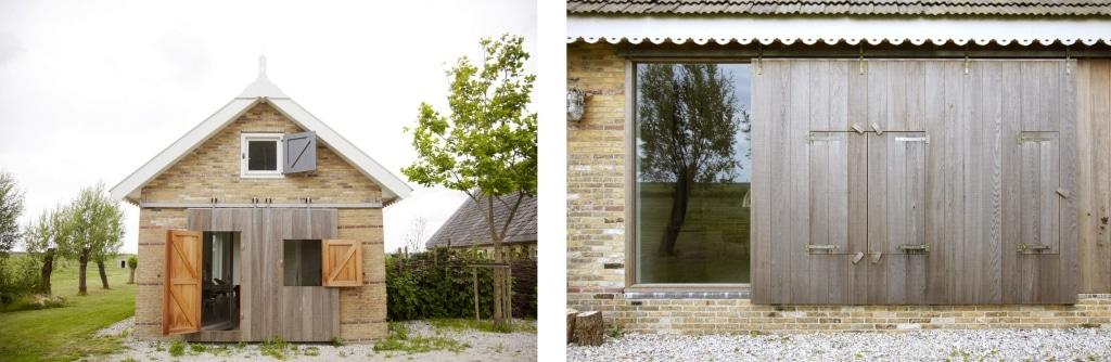 Hinterher: Das Bauernhaus wirkt hell, aufgeräumt, modern und gemütlich. Alte Elemente wie die Stalltüren werden ganz natürlich ins neue Design miteinbezogen. (Foto: ina-matt.com)