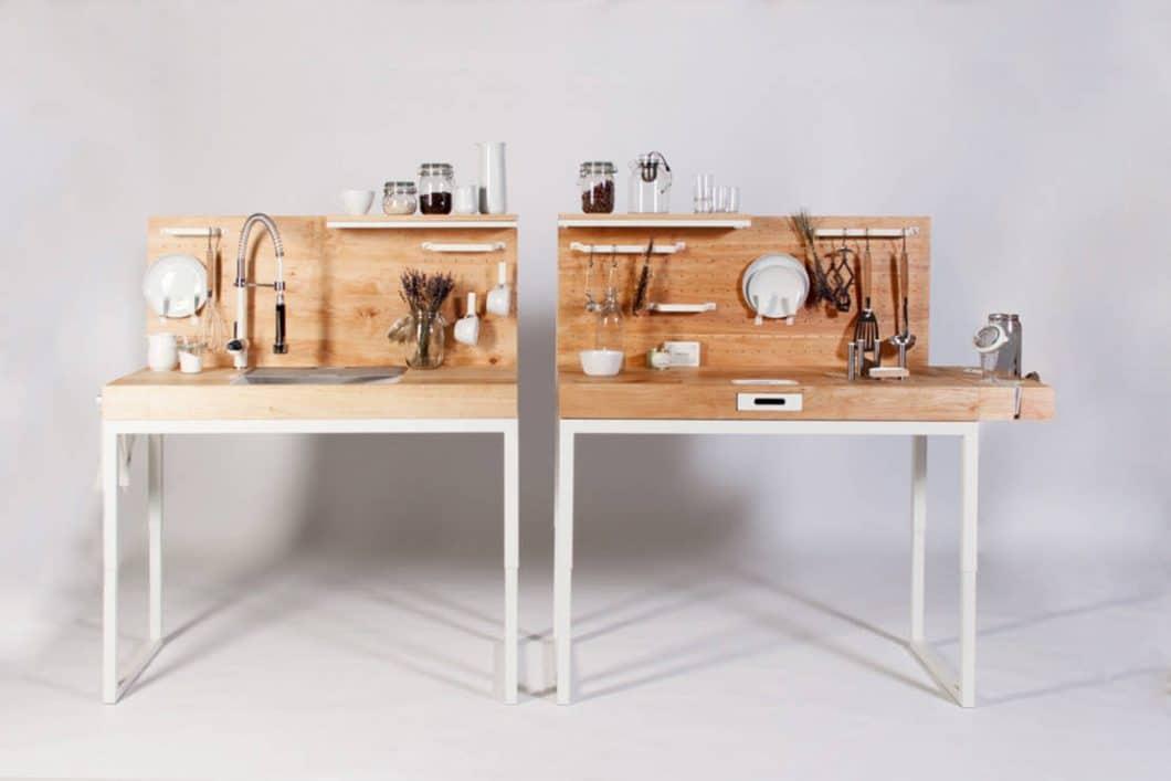 Die smarte Küchenzeile ChopChop besteht aus zwei einzelnen Modulen mit unterschiedlichen Funktionen. (Foto: dirkbiotto, Quelle: homify)