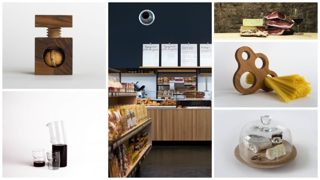 Das Pur Südtirol/Manufactum bietet eine reiche Auswahl einheimischer Spezialitäten zum Kauf an: Vom selbstgemachten Handwerkszeug bis hin zu frischen Erzeugnissen aus Käse, Brot, Butter und Schinken. (Foto: Pur Südtirol/ Meraner Weinhaus GmbH)