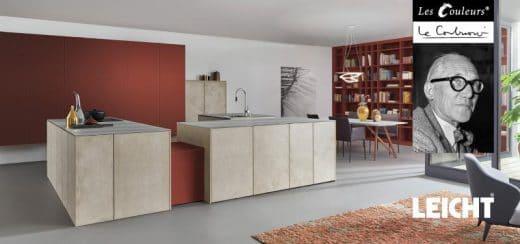 Der angesehene Küchenhersteller LEICHT wird erstmals mit dem Unternehmen Les Couleurs® Le Corbusier zusammenarbeiten, um neue Farben in der Küchenplanung vorzustellen. (Foto: Leicht, Living Kitchen Ausblick 2017)