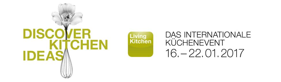 Logo und Motto des Living Kitchen-Events 2017: Discover Kitchen Ideas (Foto: living kitchen)