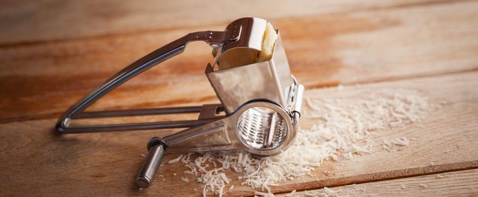 Die Käsereibe Romano von Boska. Nützlich als Küchenhelfer und Geschenk zugleich. (Foto: Boska)