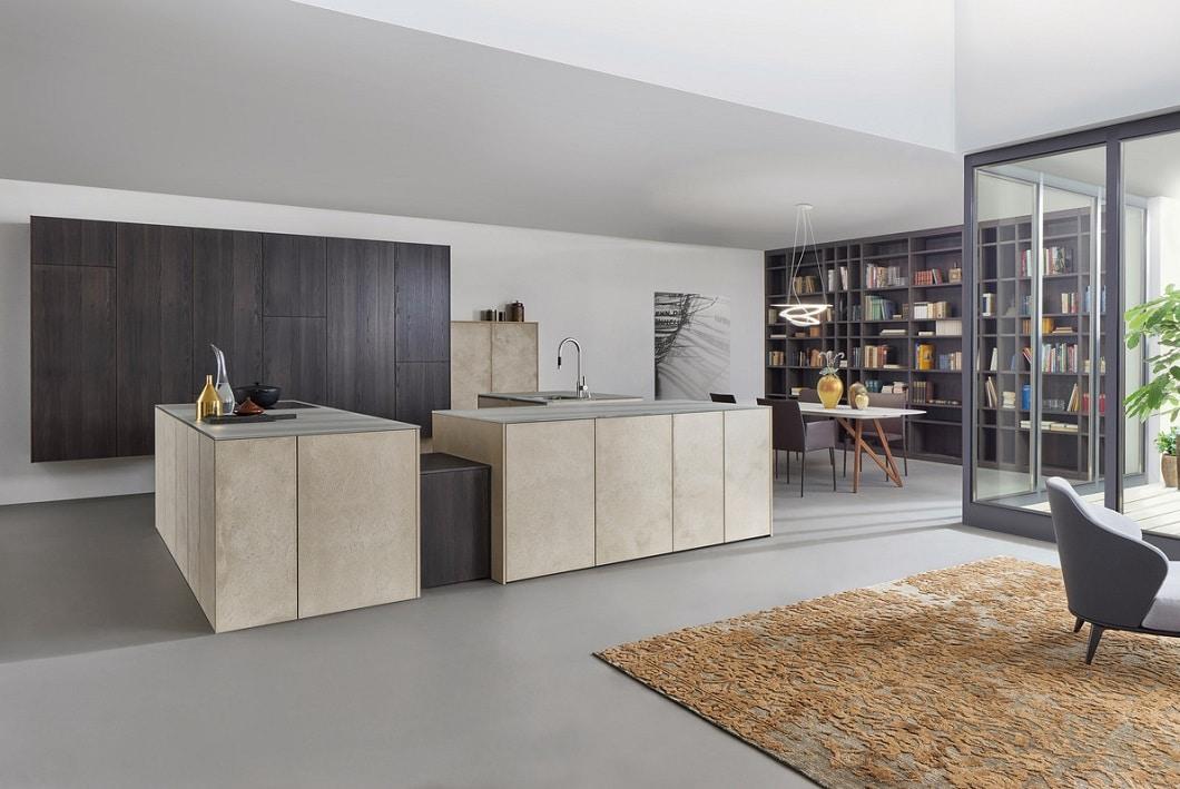 """Das neue Konzept für 2017 """"TOPOS STONE"""", das Leicht auf der LivingKitchen2017 vorstellen möchte. (Foto: Leicht)"""