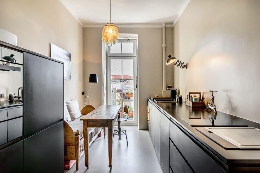 eine k che im altbau eine gute herausforderung. Black Bedroom Furniture Sets. Home Design Ideas