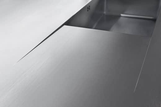 Nullauslaufende Tropffläche aus Edelstahl, Büchele, Österreich