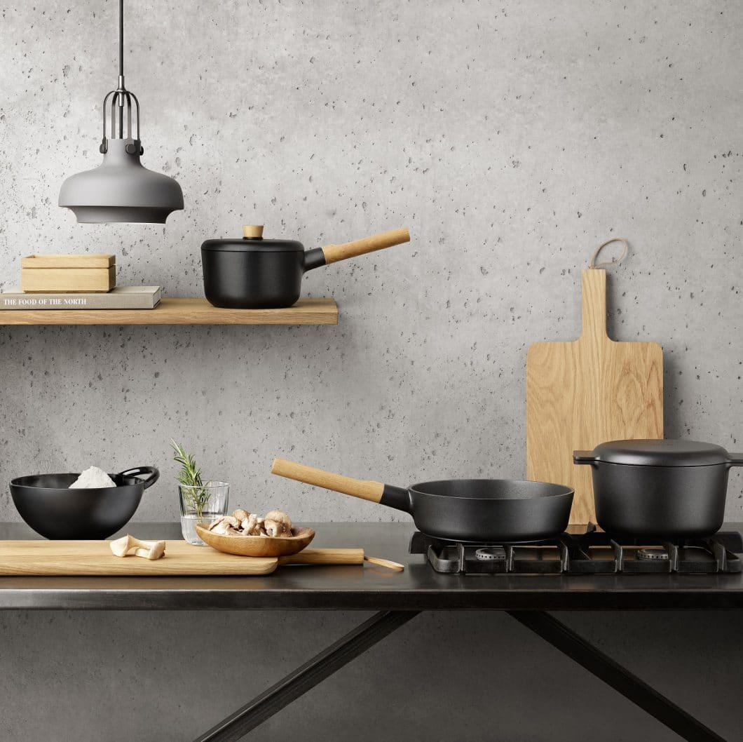 Die Nordic Kitchen-Kollektion von Tools Design für Eva Solo ist hochwertig und robust - aber aus leichtem Aluminium, statt Gusseisen, gefertigt. (Foto: Eva Solo)