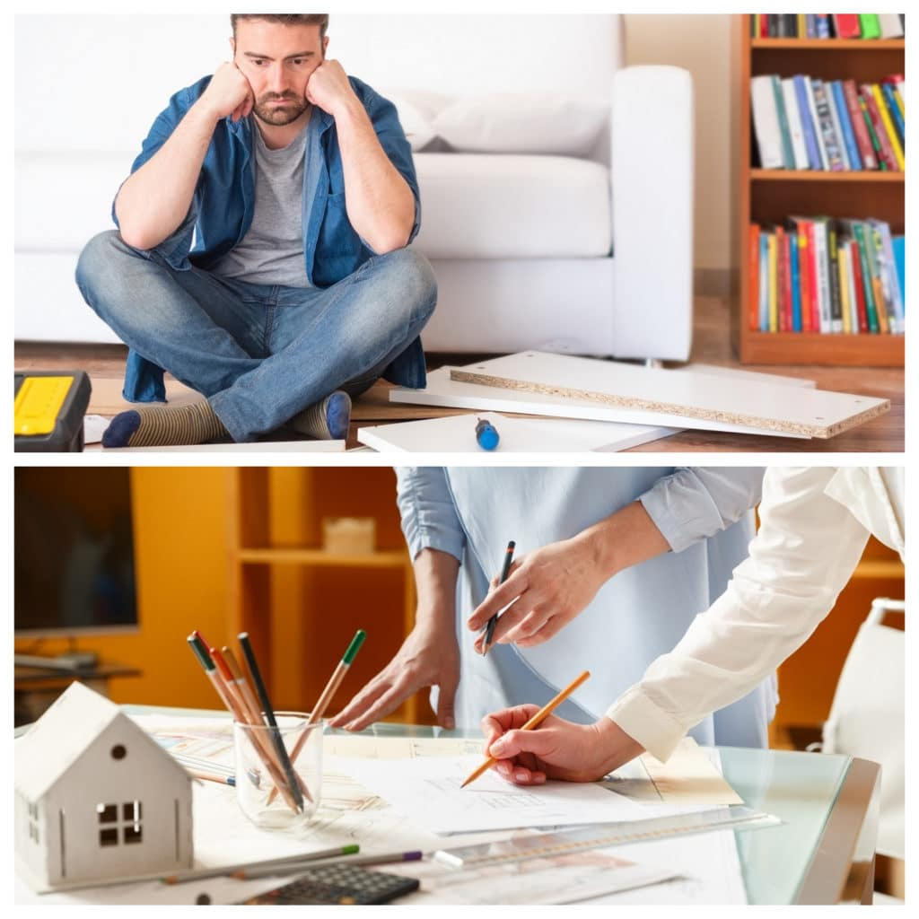 IKEA vs. Küchenstudio - die Entscheidung ist klarer, als man denkt: mit viel Eigeninitiative und einem kleinen Budget für moderne Küchen ist IKEA die richtige Wahl. Für anspruchsvolle Küchen, Raumplanung und ein langlebiges Ergebnis sollte man das Studio wählen. (Foto: Collage / Küchen&Design Magazin)