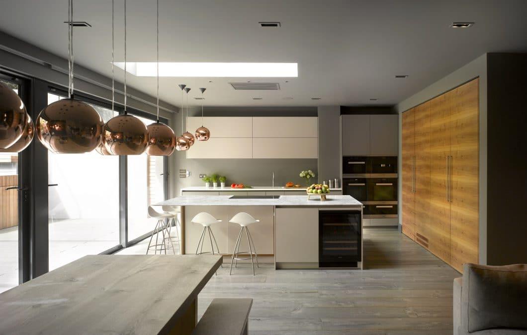 Kupfer, Corian, Apfelholz: Roundhouse Design verwendet einen ungewöhnlichen, aber sehr hochwertigen Materialmix. (Foto: Roundhouse Design)