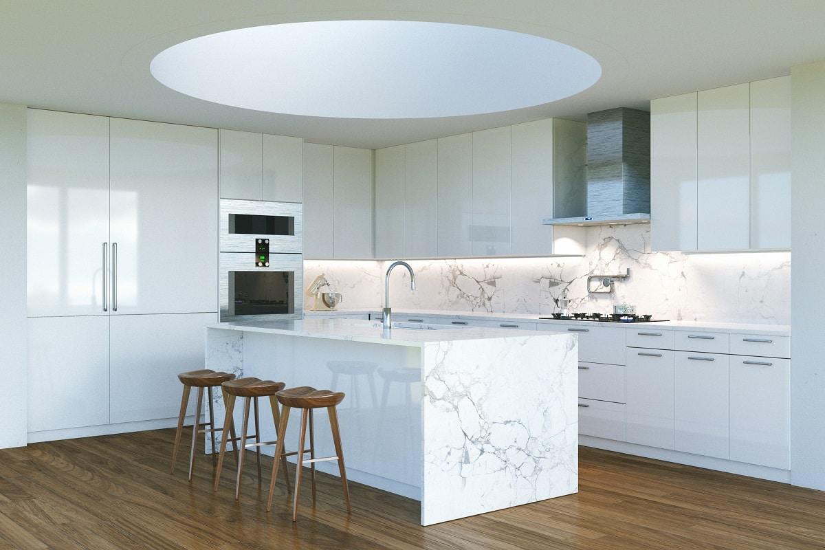 Marmor war und ist seit eh und je ein beliebtes Material in der Architektur - es wirkt automatisch edel und hochwertig. (Foto: Stock Adobe/3DArt)