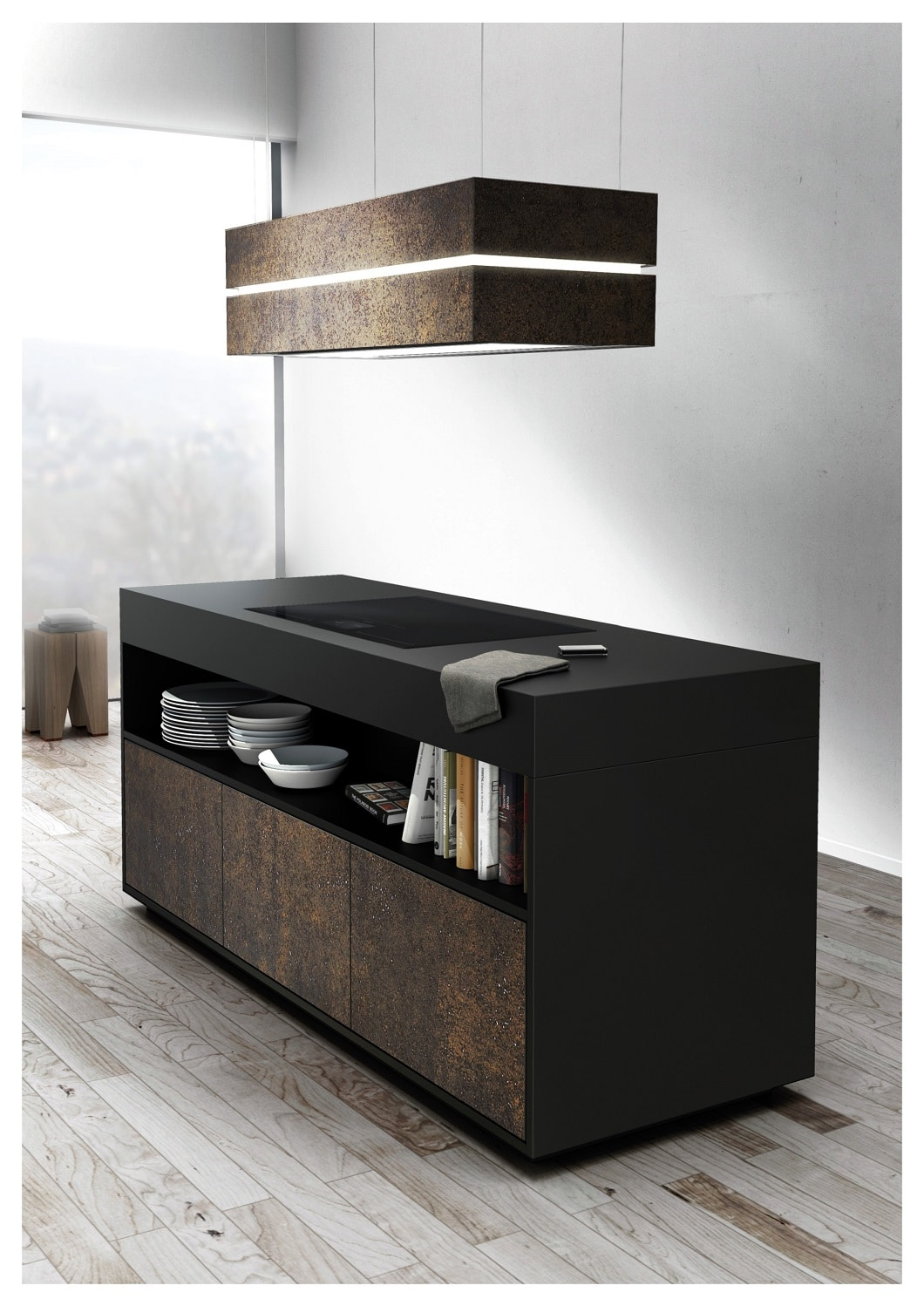 skyline edge von berbel dunstabzug mit sound und stil k chendesignmagazin lassen sie sich. Black Bedroom Furniture Sets. Home Design Ideas