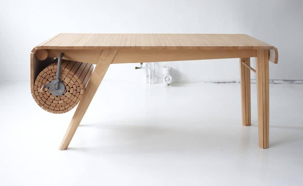 Der Roll Out Table von Marcus Voraa lässt sich beliebig erweitern auf bis zu vier Meter. (Foto: Marcus Voraa)