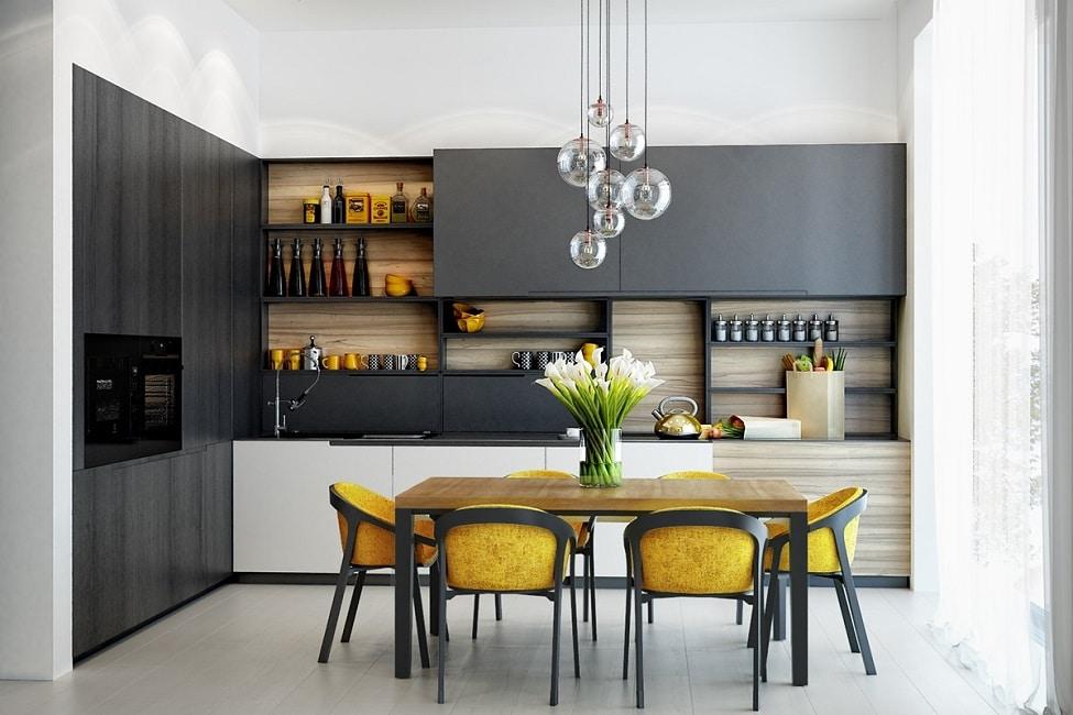 Gelb Muss Nicht Immer Knallig Sein   Mit Ockergelben Farbtupfern Wird Eine  Küche Richtig Elegant Aufgewertet. (Visualizer: Olga Podgornaja)