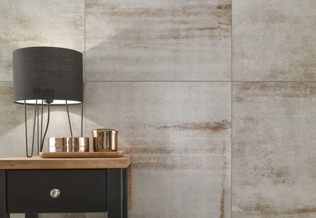 Rost macht schön: Zumindest die Fliesen der neuen Villeroy & Boch-Serie, in denen das oxidierte Metall als Gestaltungselement eingesetzt wird. (Foto: Villeroy & Boch)