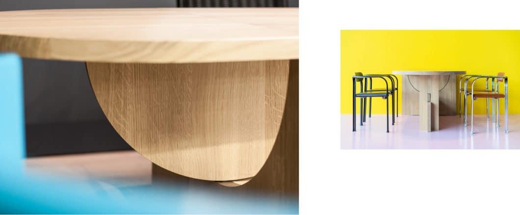 Alles im LOT? Mit diesem ausklappbaren und mobil bewegbaren Tisch schon. (Foto: TECTA)