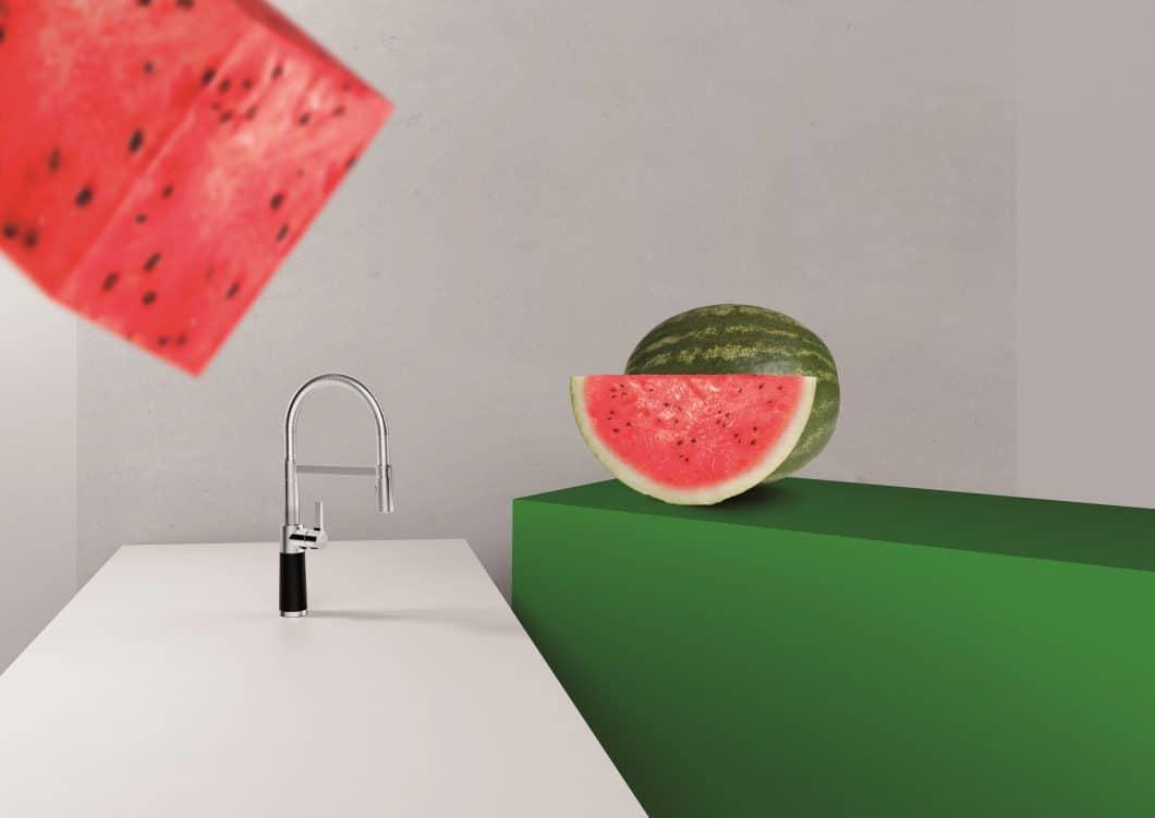 Die SCHOCK SC-Serie bietet knallbunte Armaturen: Von seriösem Schwarz über Sonnengelb bis hin zu Melonengrün. (Foto: SCHOCK)