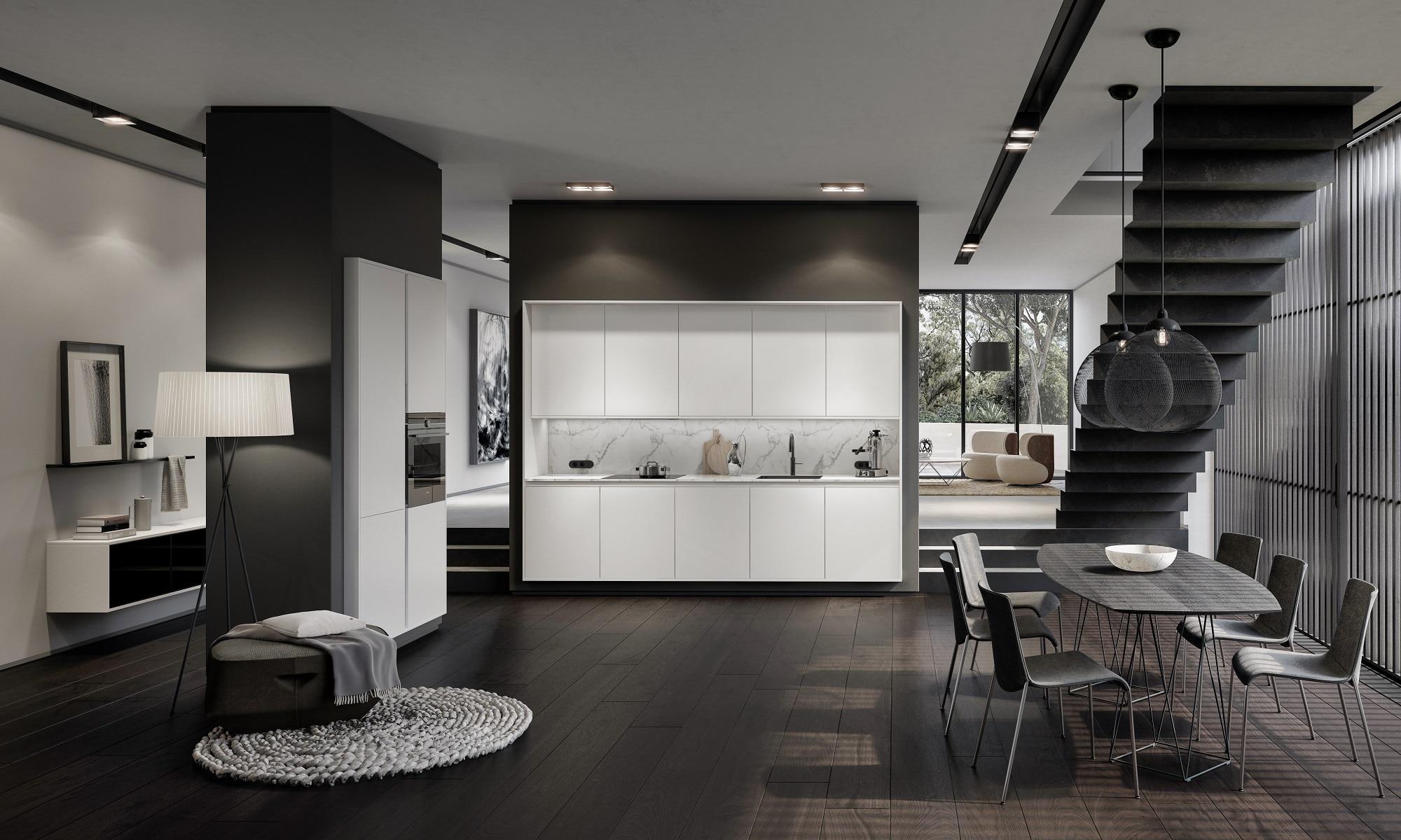 das siematic frame design symbiose zwischen m bel und architektur. Black Bedroom Furniture Sets. Home Design Ideas