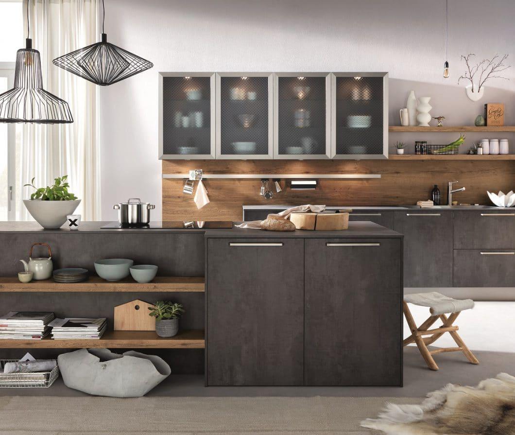 Hochwertige küchen hersteller  AV_1070_graphit_1097_Alteiche_natur_Bodentief_mit_Licht ...