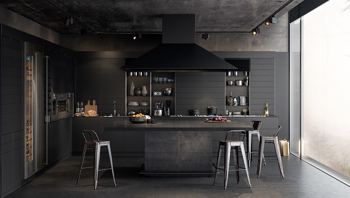 black-in-black-kitchen-charcoal-painted_Visualizer_Design At Sketch ...
