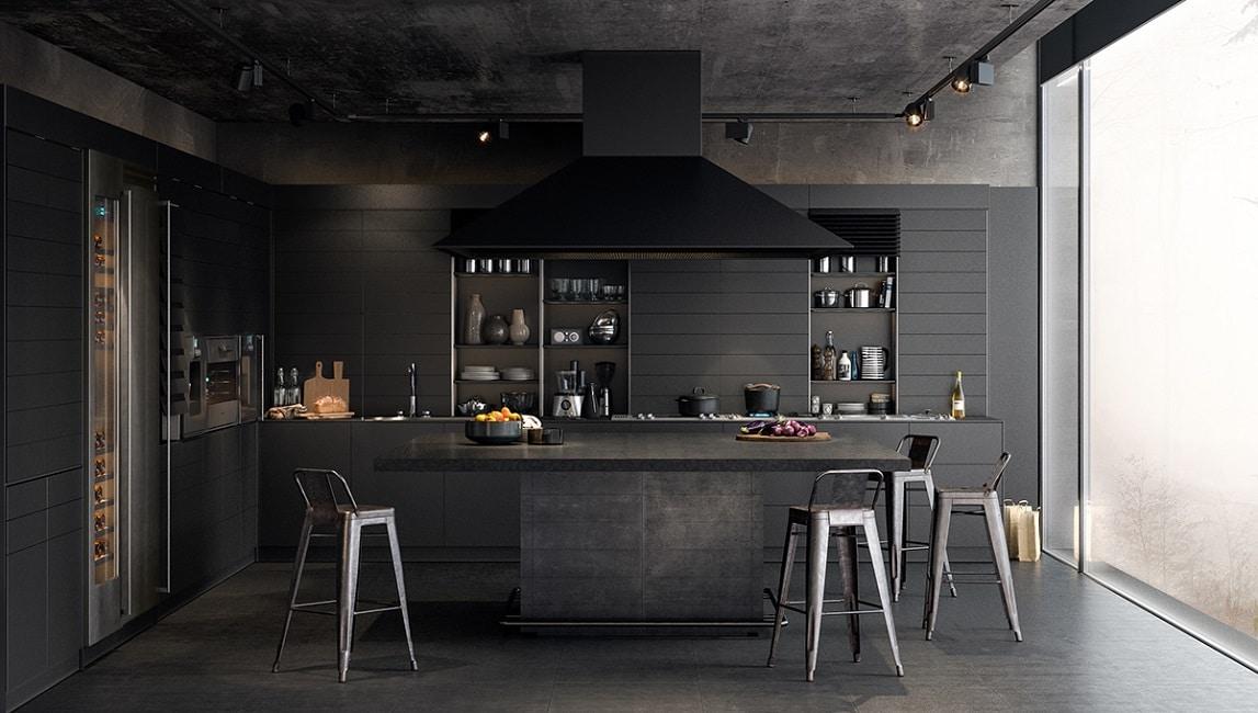 Wunderbar Schwarz Küchenschränke Mit Schwarzen Geräten Fotos ...