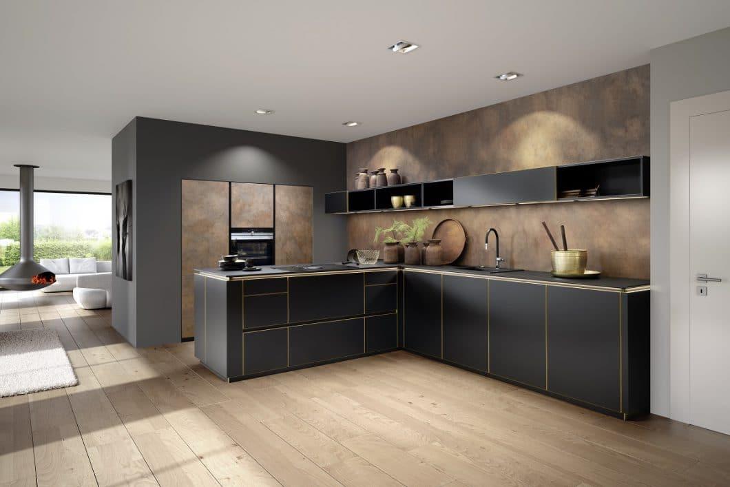 Nolte Küchen Stellt 2 Neue Metallfronten Für Den Industrial Style 2018 Vor:  Den Anthrazitfarbenen Blaustahl