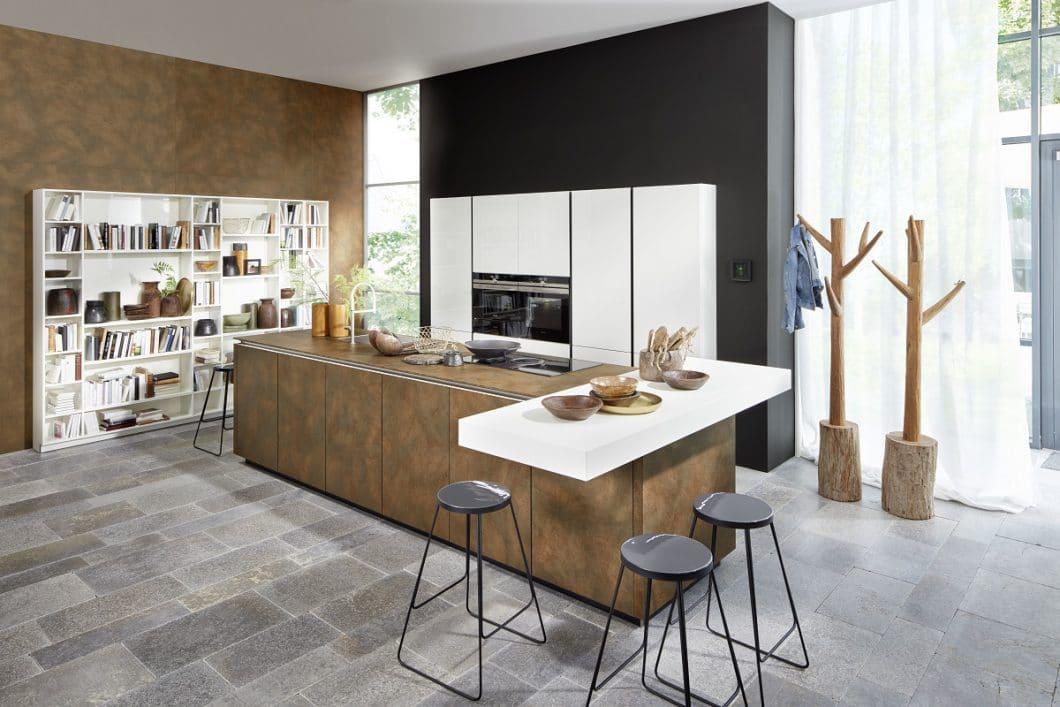 Cortenstahl und blaustahl 2 neue materialien f r den for Nolte kuchen fronten