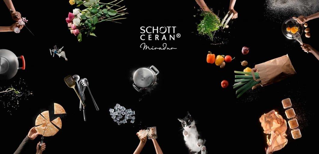 Die Spezialbeschichtung des Induktionskochfeldes mit der Miradur™-Veredelung sorgt für das härteste, kratzresistenteste Kochfeld der Welt. (Foto: SCHOTT CERAN)