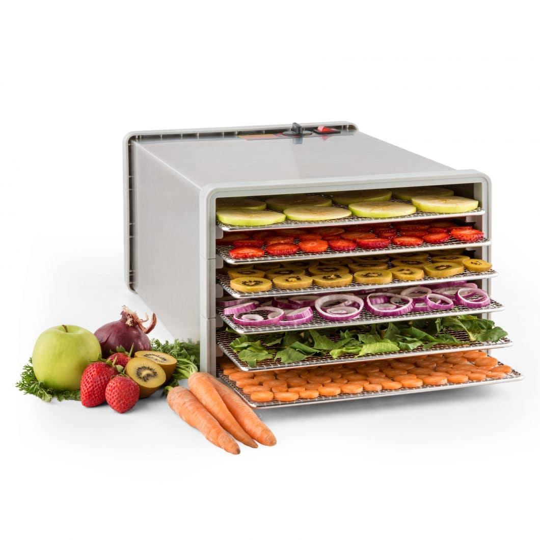 Der Fruit Jerky Pro 6 Dörrautomat der Marke Klarstein ermöglicht die unkomplizierte Eigenherstellung gesunder Snacks wie Trockenobst und -gemüse. (Foto: klarstein)
