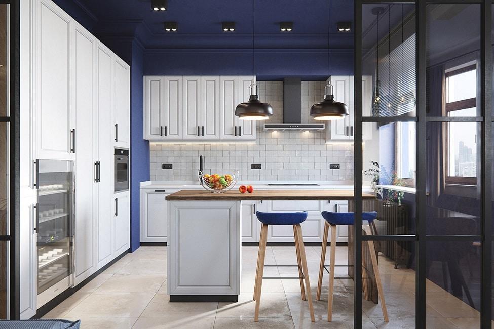 Groß Blaue Wände In Küche Ideen - Kicthen Dekorideen - nuier.com