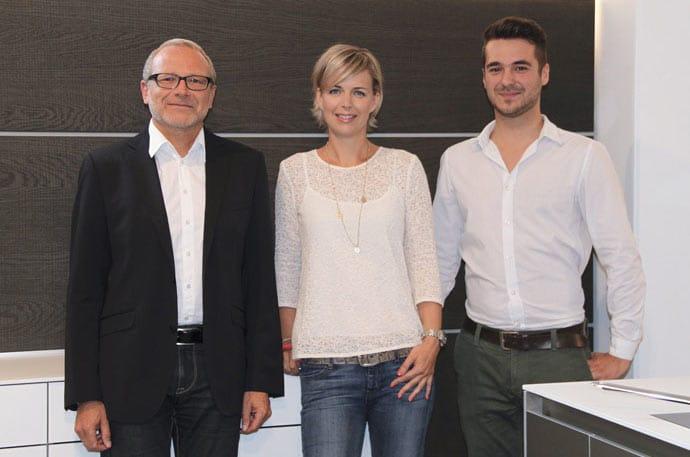 Das eingespielte Team von Dross Ingolstadt, bestehend aus Christian Höbel, ... und Marcel Hufnagl, ist stets auf der Suche nach Innovationen im Küchensegment. Die Mischung aus Kreativität, Erfahrung und technischen Neuheiten macht den Mehrwert für die Kunden aus. (Foto: Dross Ingolstadt)