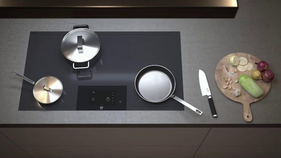 Die hochfunktionalen V-ZUG Kochfelder können wahlweise mit Einfach- oder Multi-Slider bedient werden: Beide Einheiten sind intuitiv und komfortabel ausführbar. (Foto: V-ZUG)