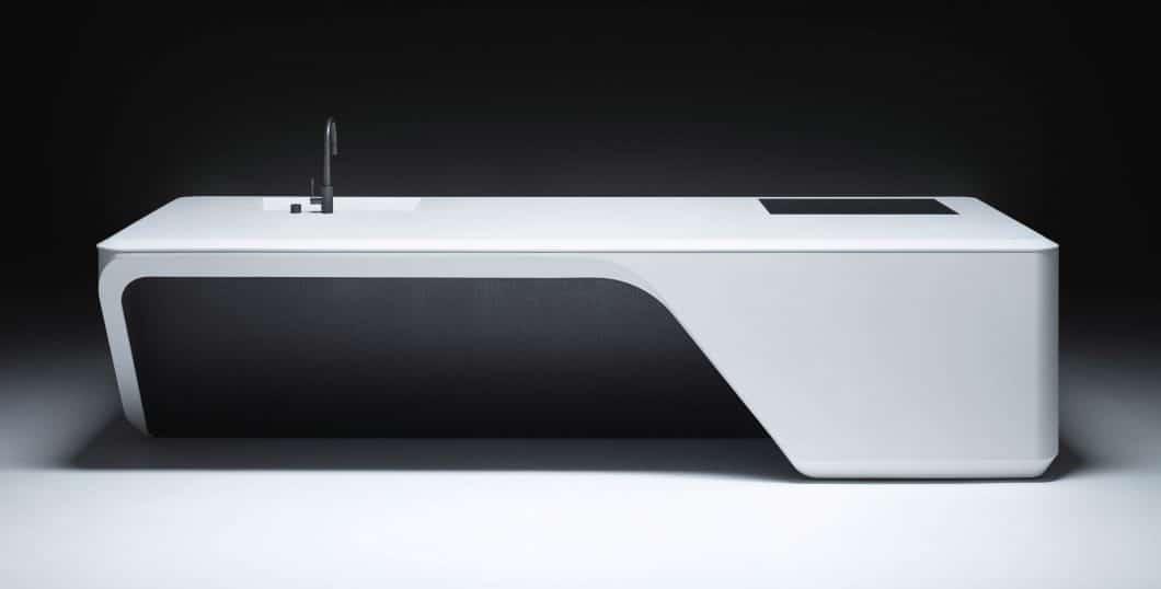Elegante Kurven, attraktive Ausbuchtung und aufregende Materialien: Die Boffi Cove Kitchen von Stararchitektin Zaha Hadid ist ein Hingucker in der Küchenszene. (Foto: dezeen.com)
